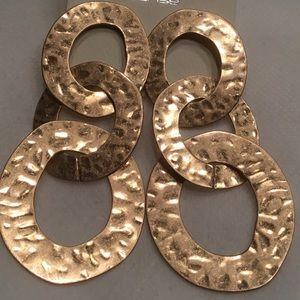 Jewelry - Urban Triple Disc Hammered Earrings